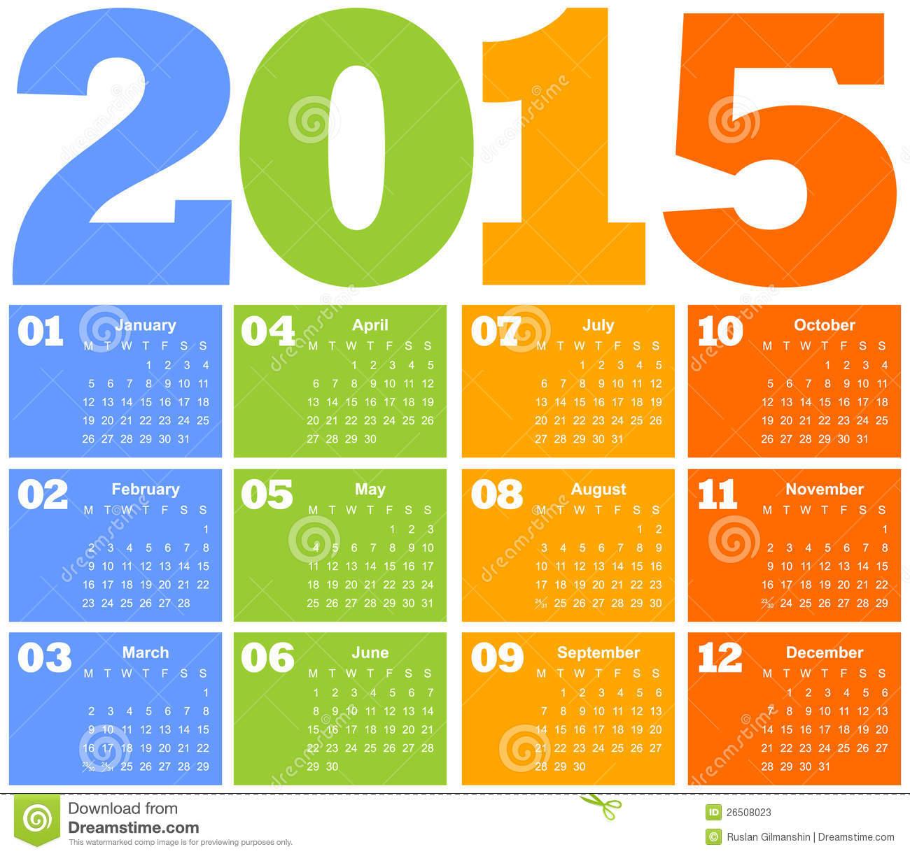 Calendario Colombia 2015 | La Economia de Hoy